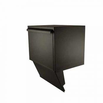 Stoer! inbouwdeel pakket-doorvoerbox, zwart