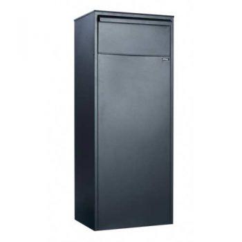 Pakketbrievenbus Allux 800, zwart, achteruitname